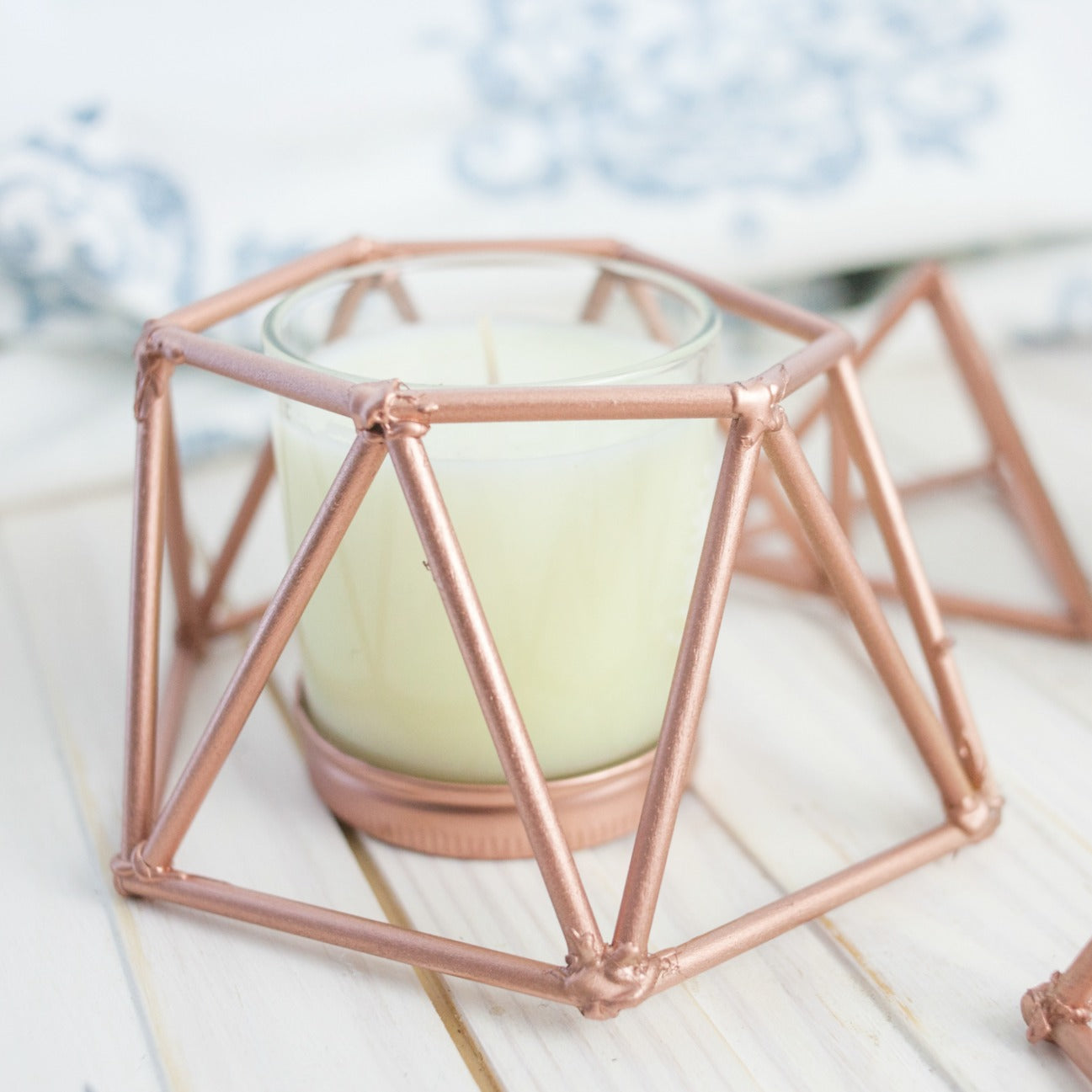 Easy DIY Copper Candle Cover
