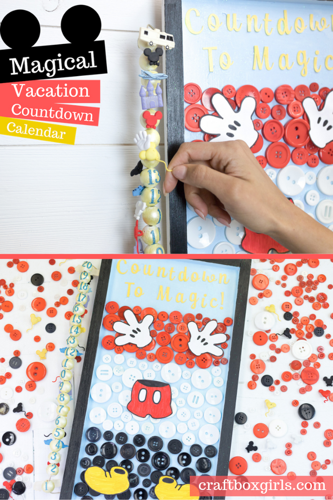 DIY Disney Vacation Countdown Calendar Craft