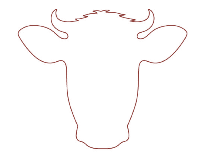 Cow Head Outline