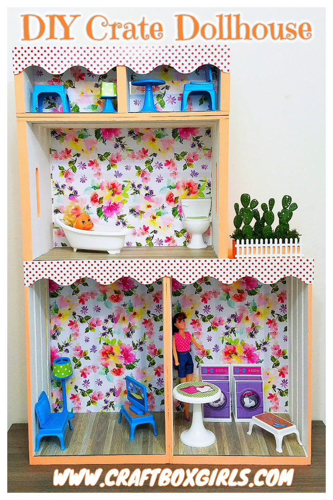 Diy Crate Dollhouse Craft Box Girls