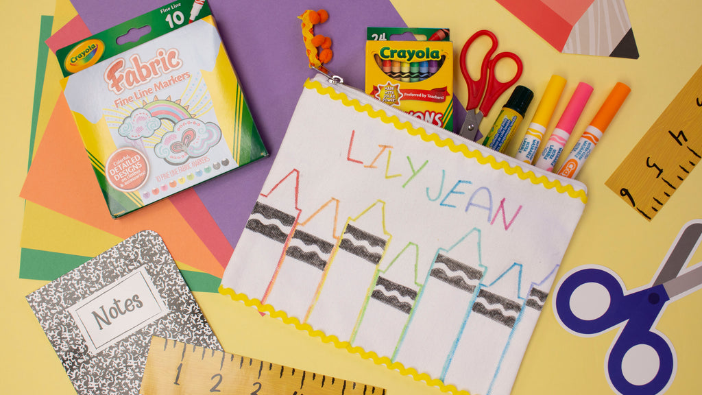 Back to School Crayon Pencil Pouch Craft