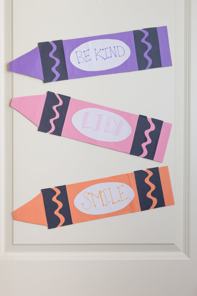 DIY Crayola Crayon Bedroom Door Sign