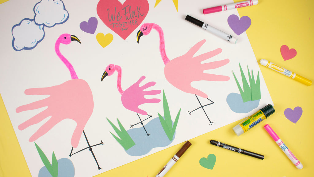 Crayola Handprint Flamingos