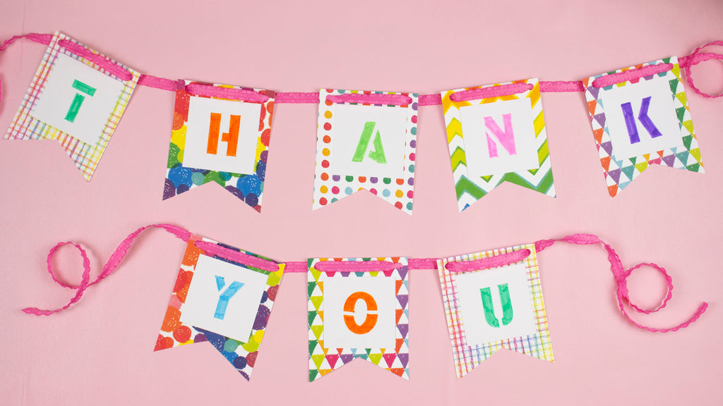 DIY Thank You Banner