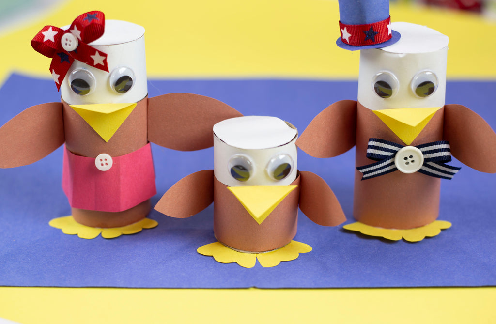 DIY Toilet Paper Roll Patriotic Eagles
