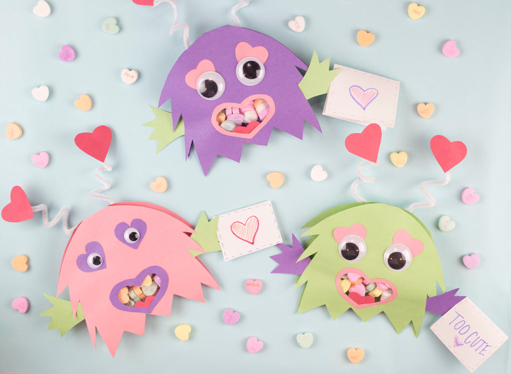 Monster Valentine's Day Treat Bags
