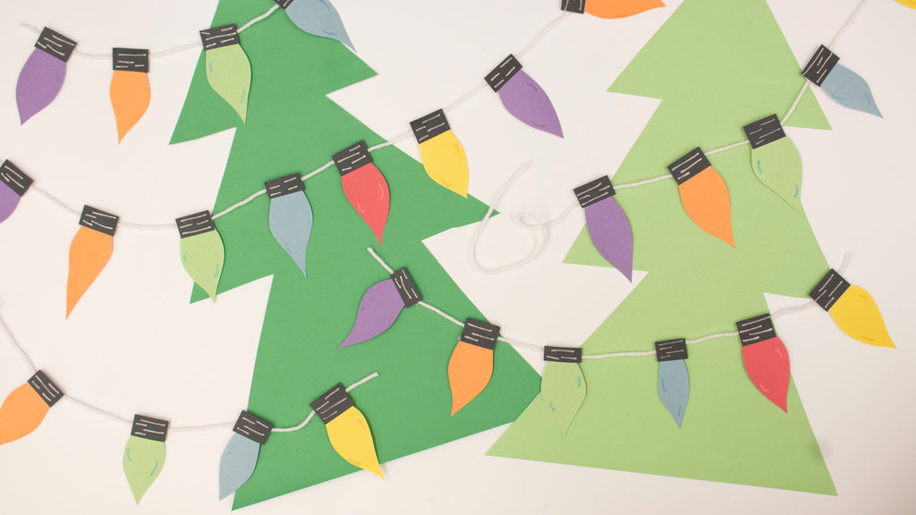 Construction Paper Christmas Light Kids Craft