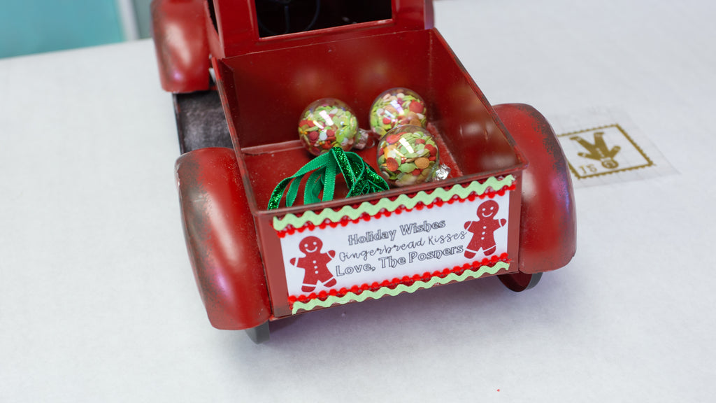 30 Min Personalized Holiday Cookie Truck With Cricut Joy Craft Box Girls