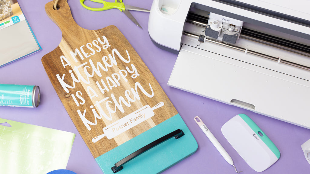 Cricut Thrifted Kitchen DIY Project