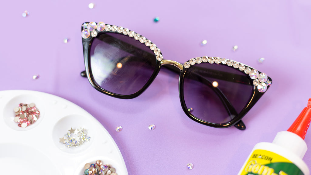 DIY Embellisehd Sunglasses