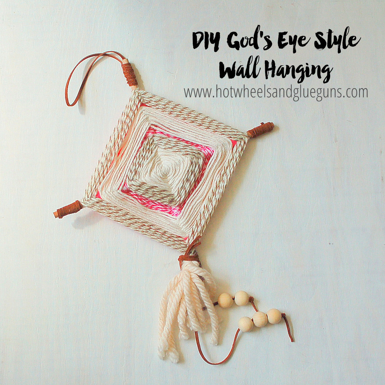 DIY God's Eyes Style Wall Hanging