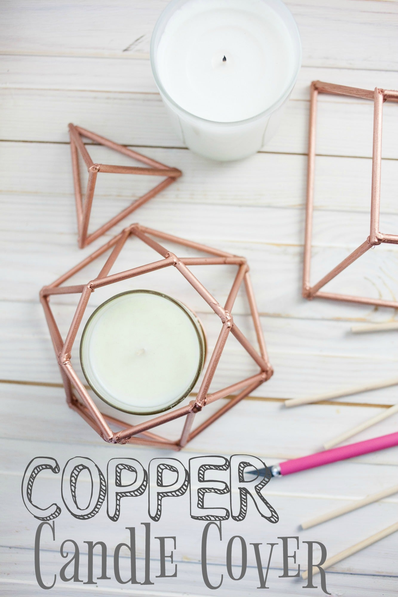 DIY Copper Candle Cover