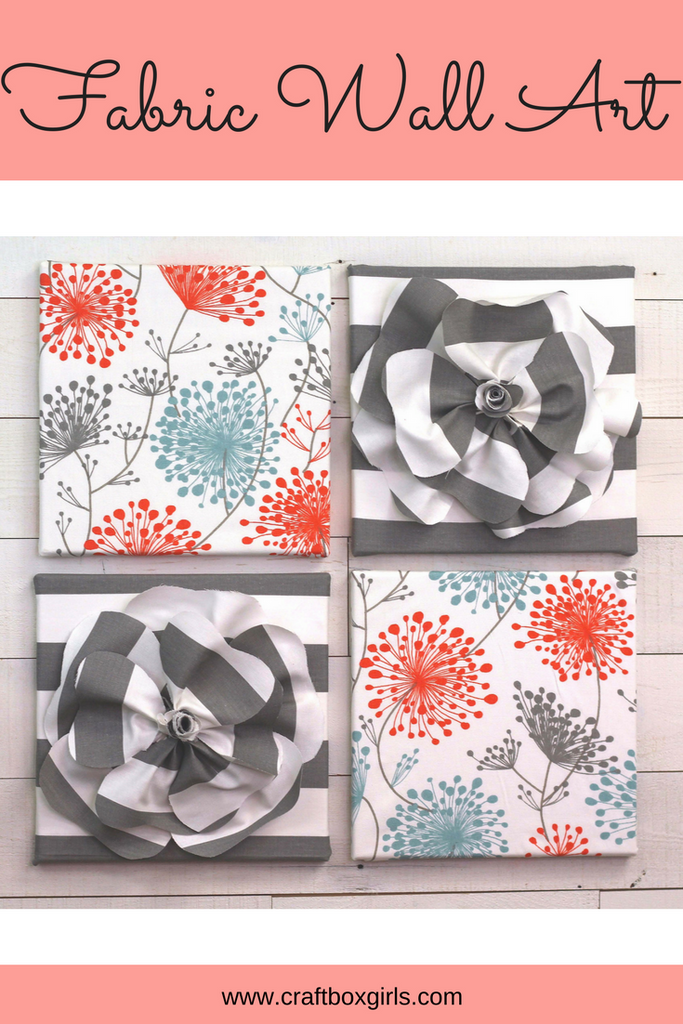 DIY Fabric Flower Wall Art