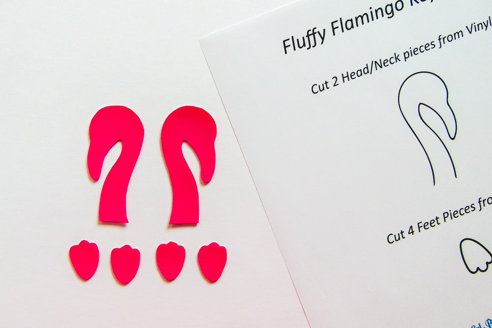 DIY Fluffy Flamingo Key-Chain - Step 1