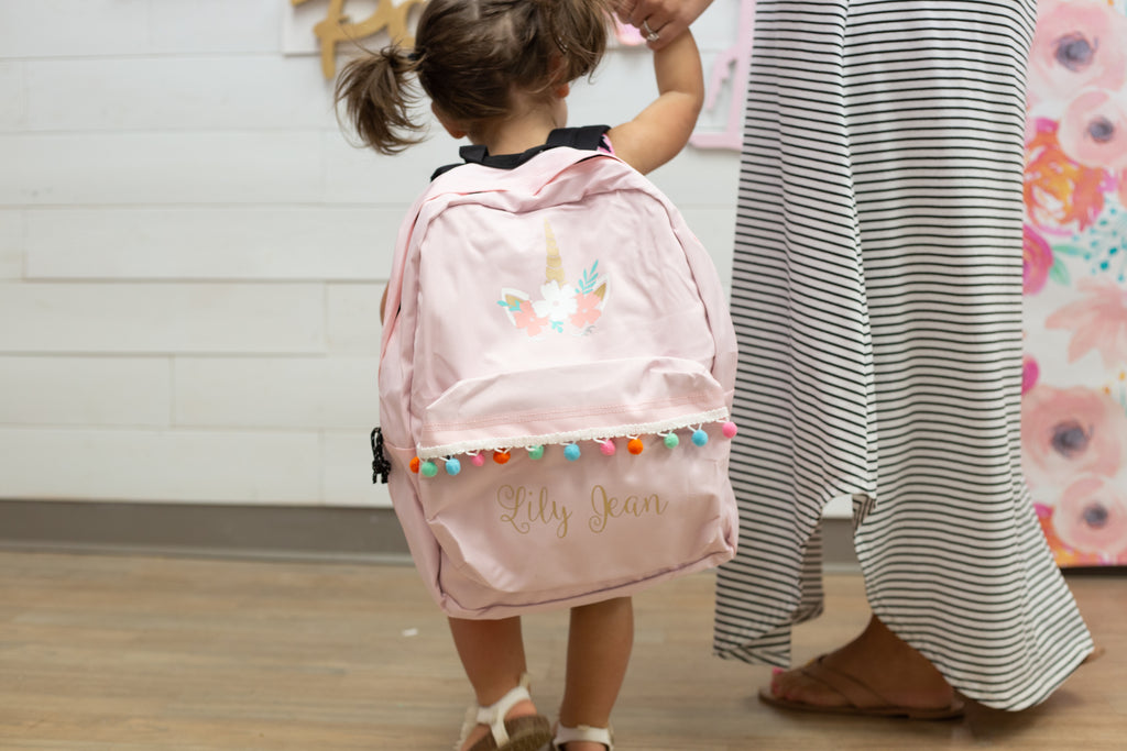 DIY Cricut Back to School Unicorn Back Pack