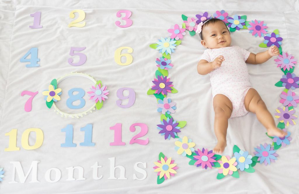 DIY Monthly Photo Floral Blanket