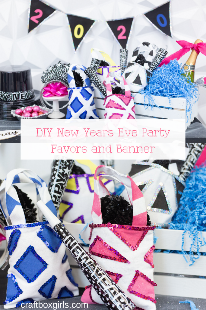 DIY New Years Eve Party Favors & Banner