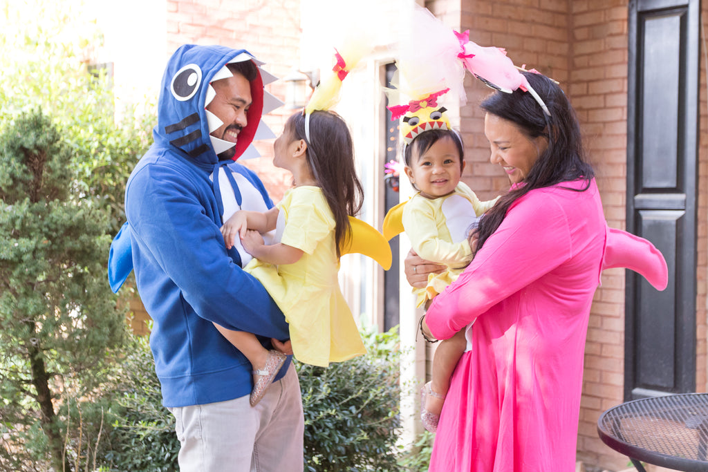 DIY Baby Shark Family Halloween Costume