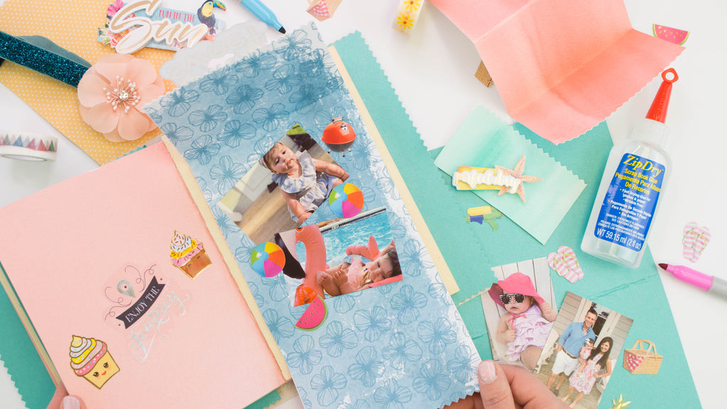 DIY Mini Vacation Scrapbook