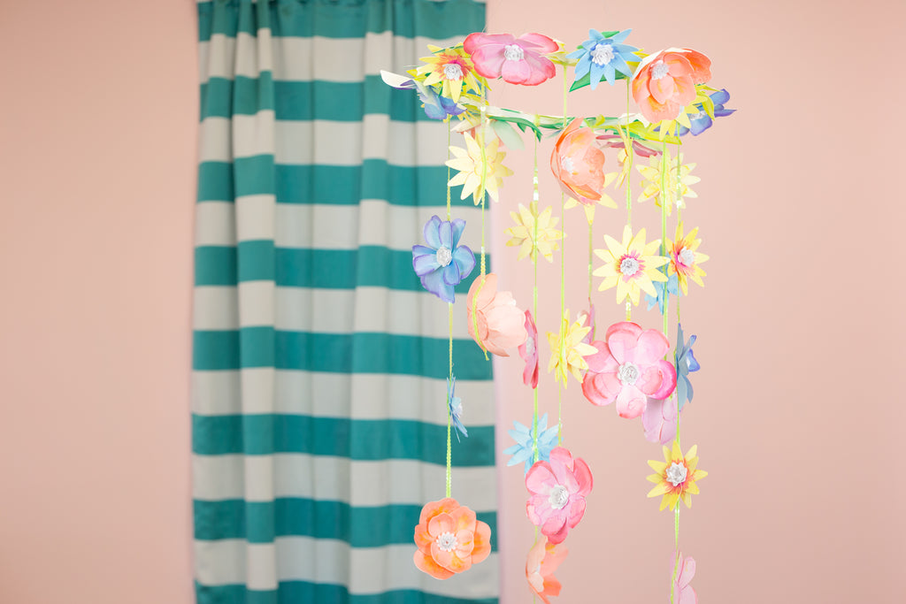 DIY Paper Flower Mobile