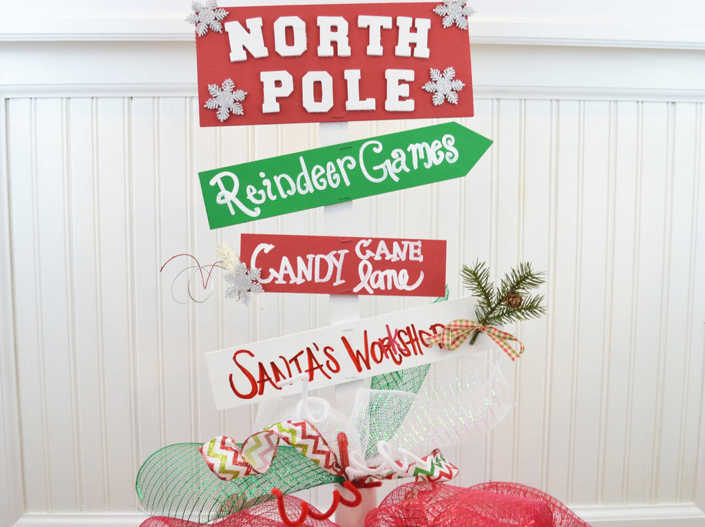Diy North Pole Yard Sign Craft Box Girls