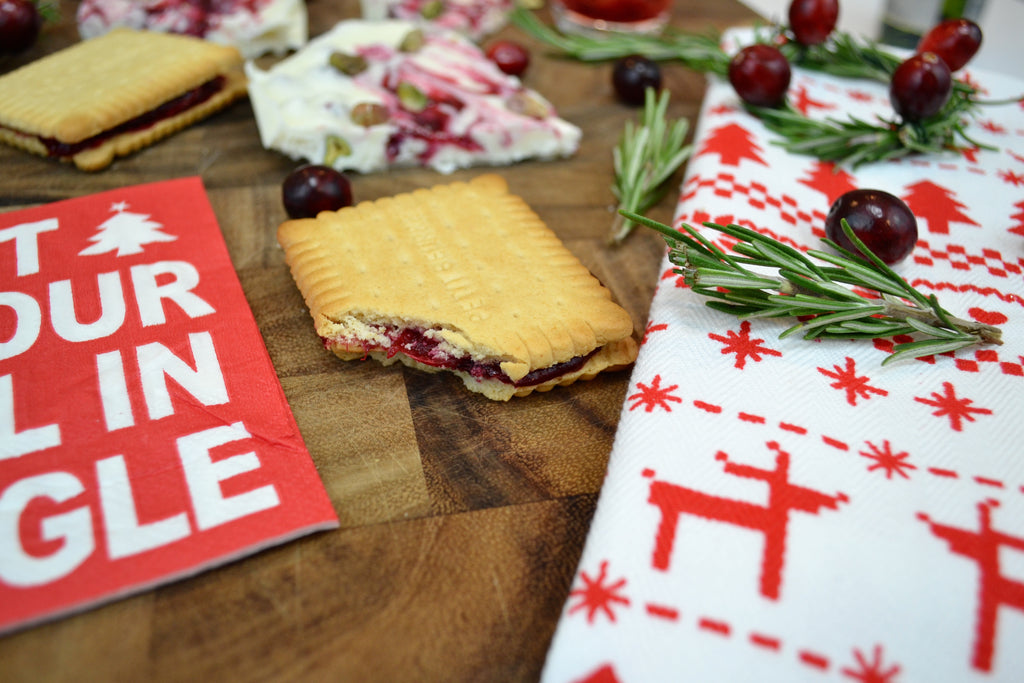 Cranberry Shortbread Sandwiches