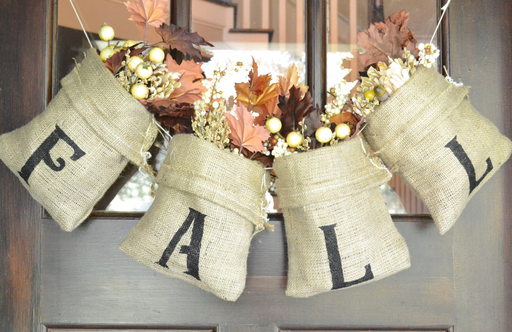 Burlap Fall Front Door Sign