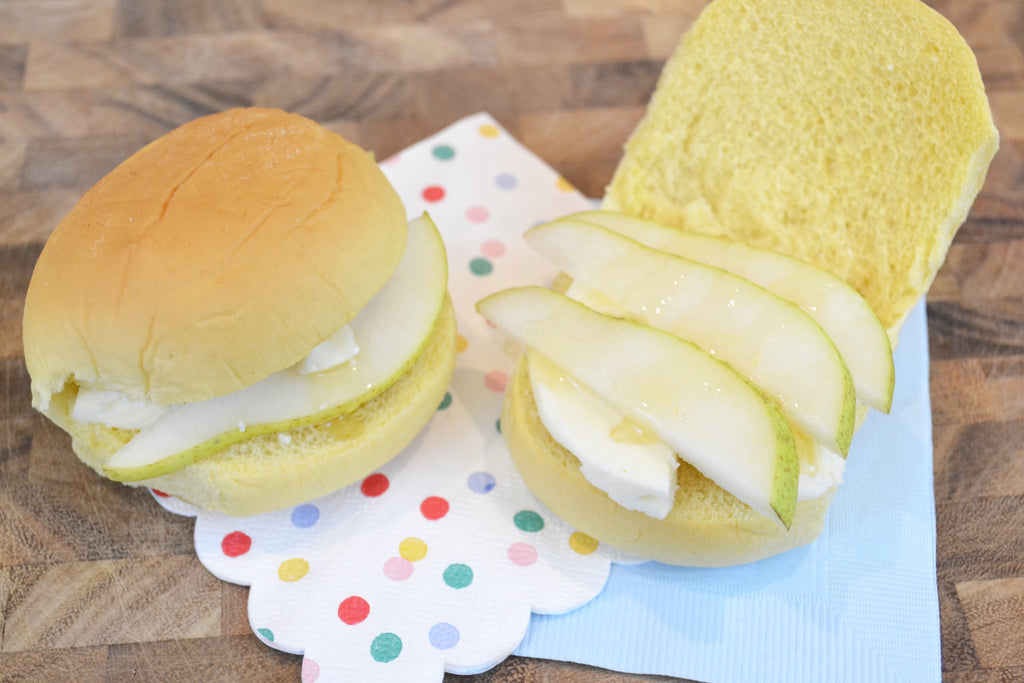 Brie Pear and Honey Sandwich