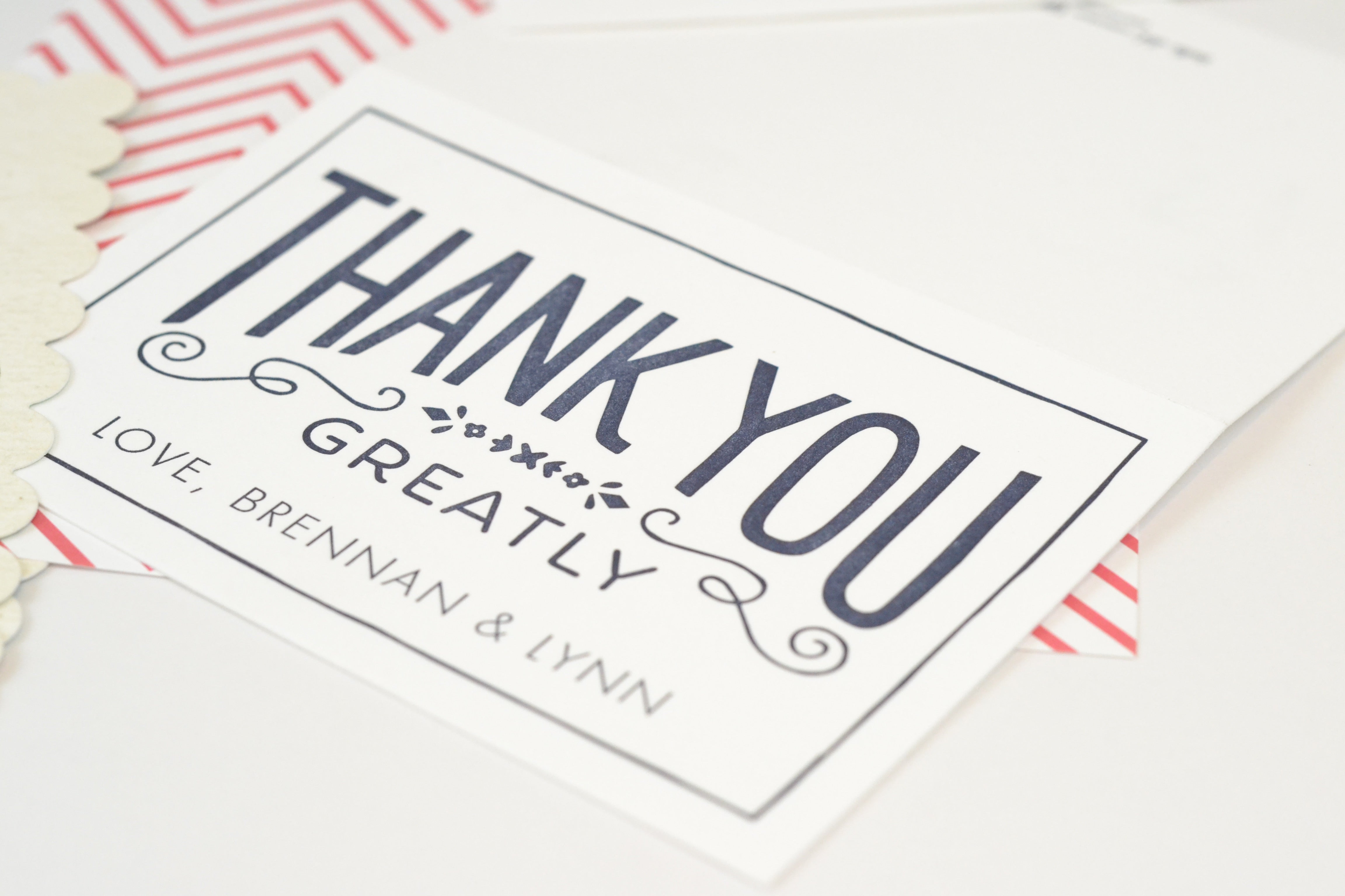 Letter Press Thank You Notes