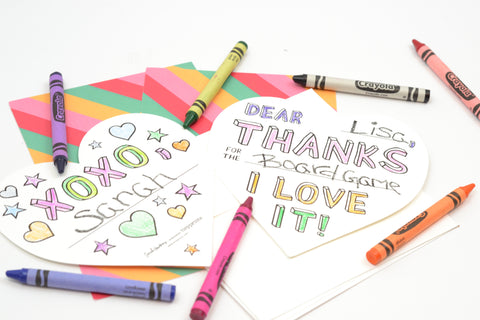 Color In Thank You Notes