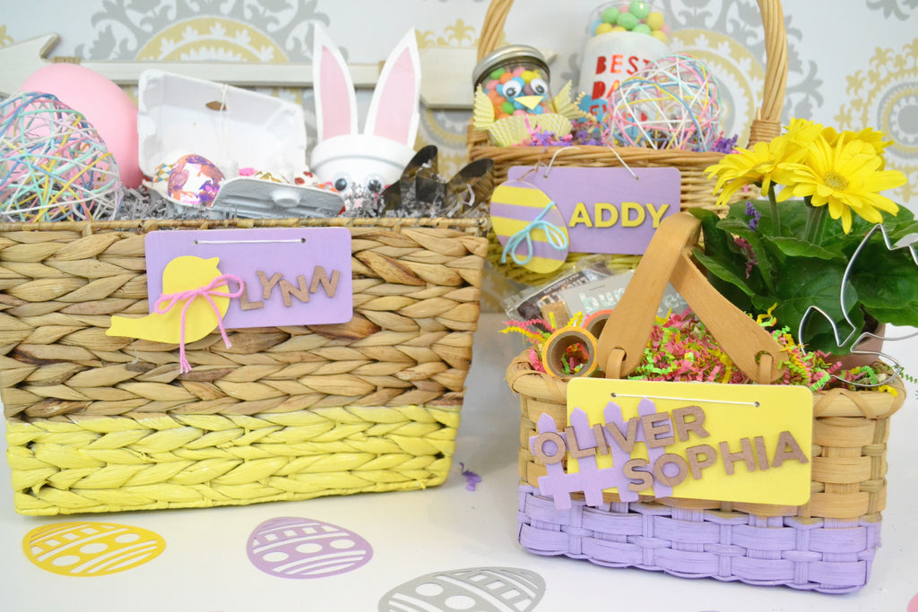 DIY Painted Easter Baskets