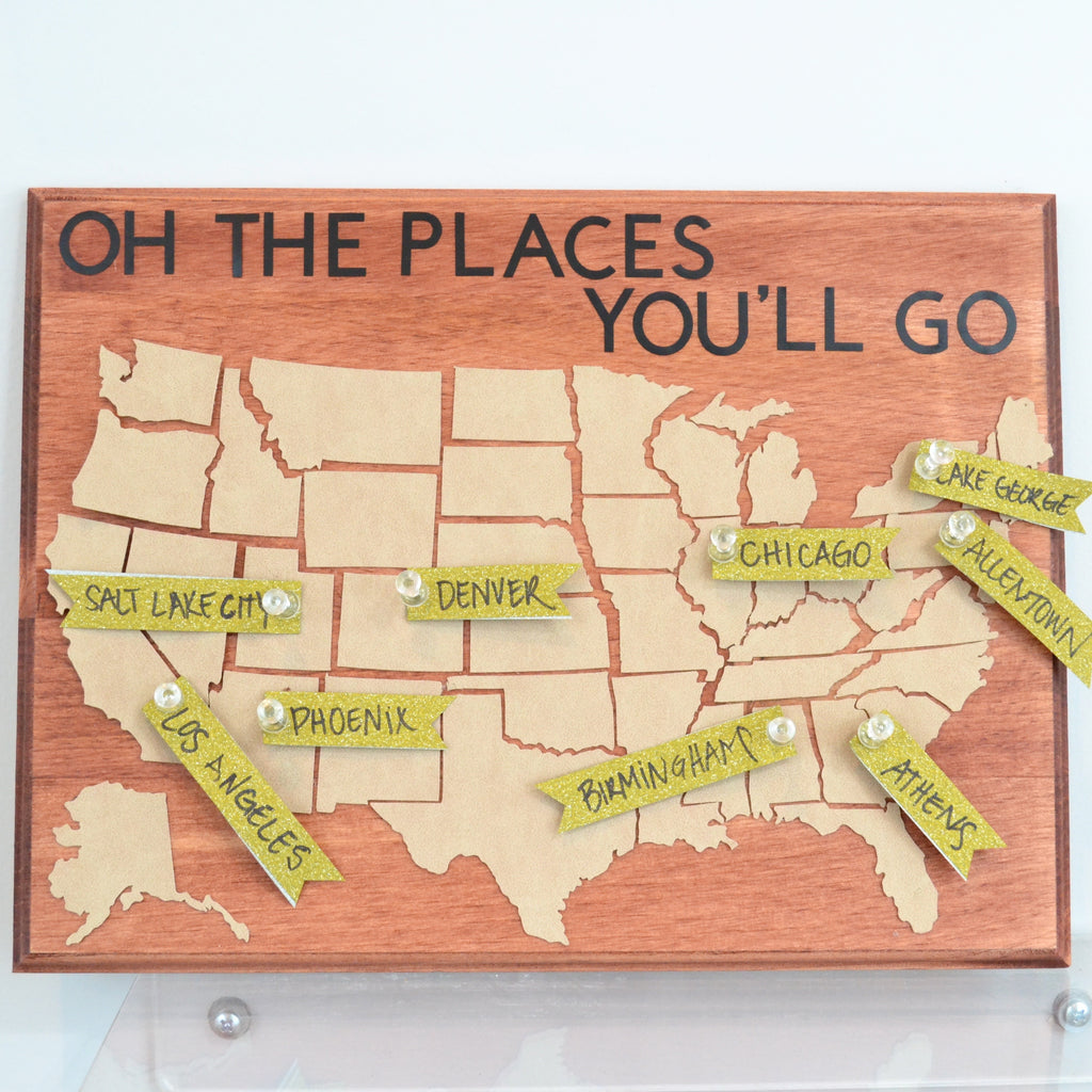 DIY Map Pinboard