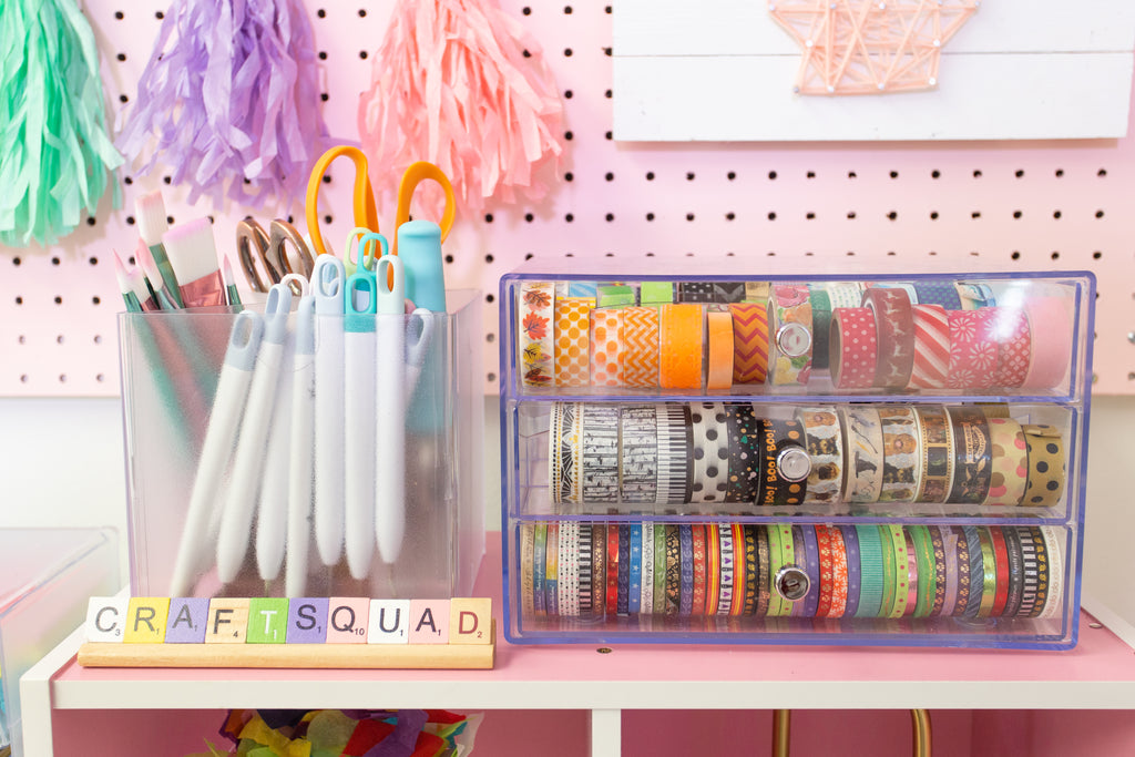 Craft Room Storage Deflecto Stackable Cube Organizers
