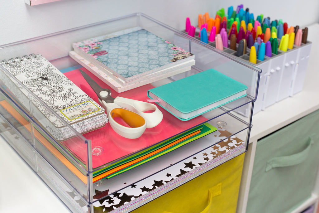 Deflecto Stackable Clear Paper Trays