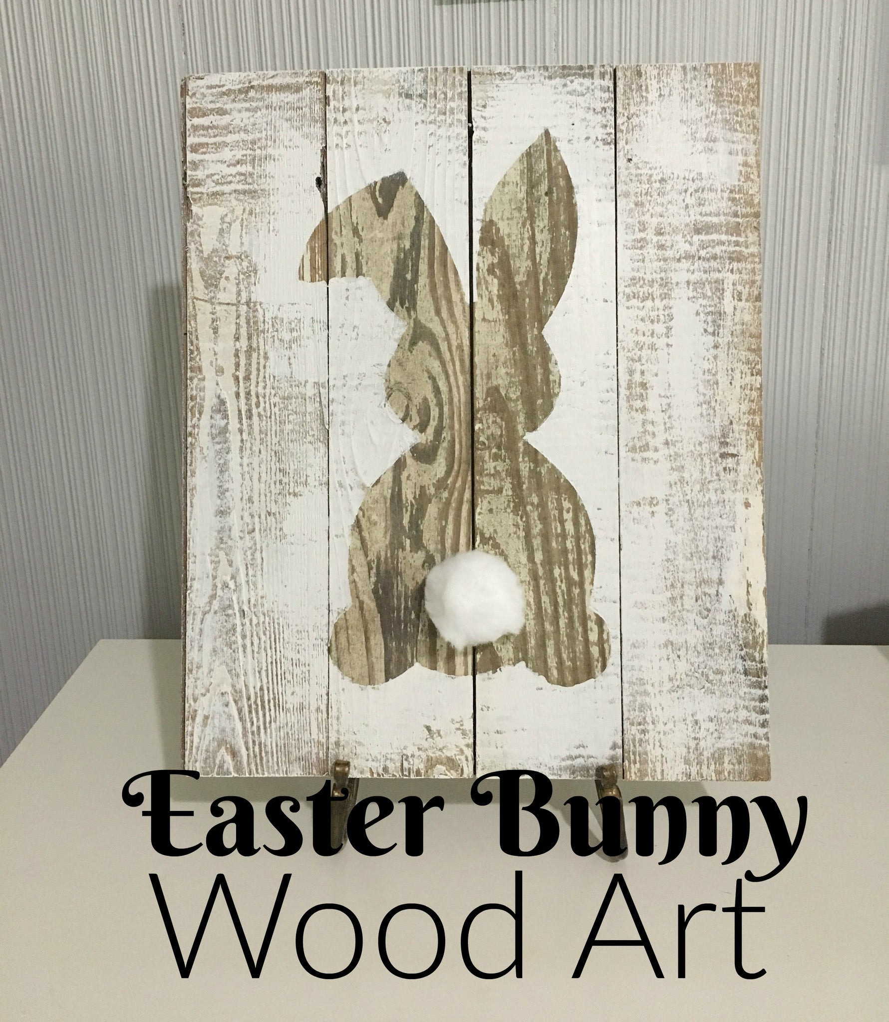 Easter Bunny Wood Art