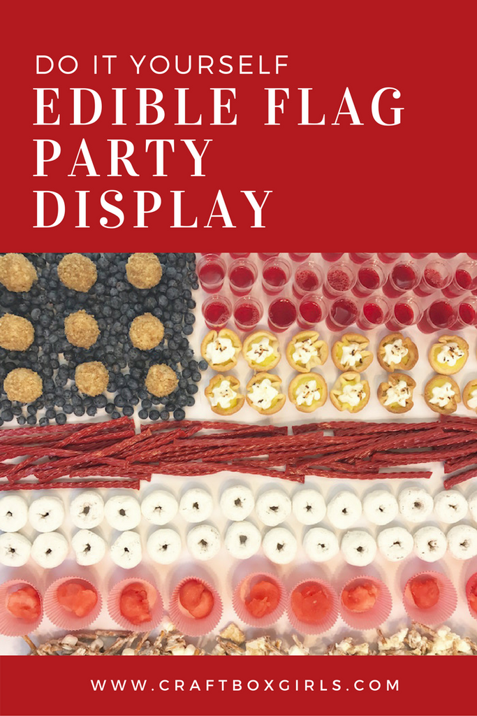 Edible Flag Party Display