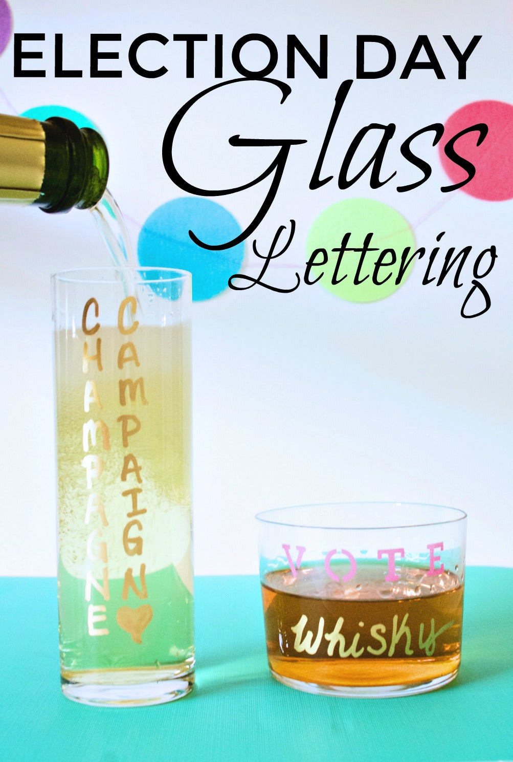 Election Day Glass Lettering