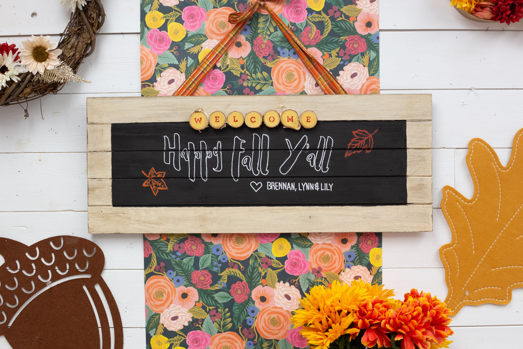 DIY Personalize Fall Front Door Sign - Testors Crafternoons