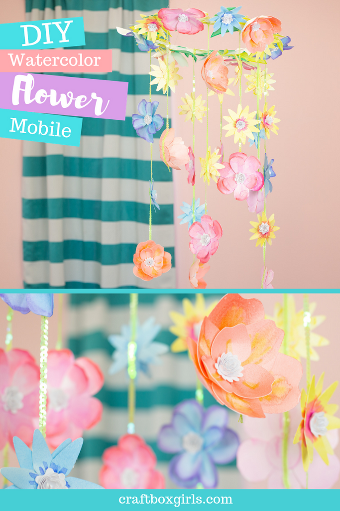 DIY Watercolor Flower Mobile