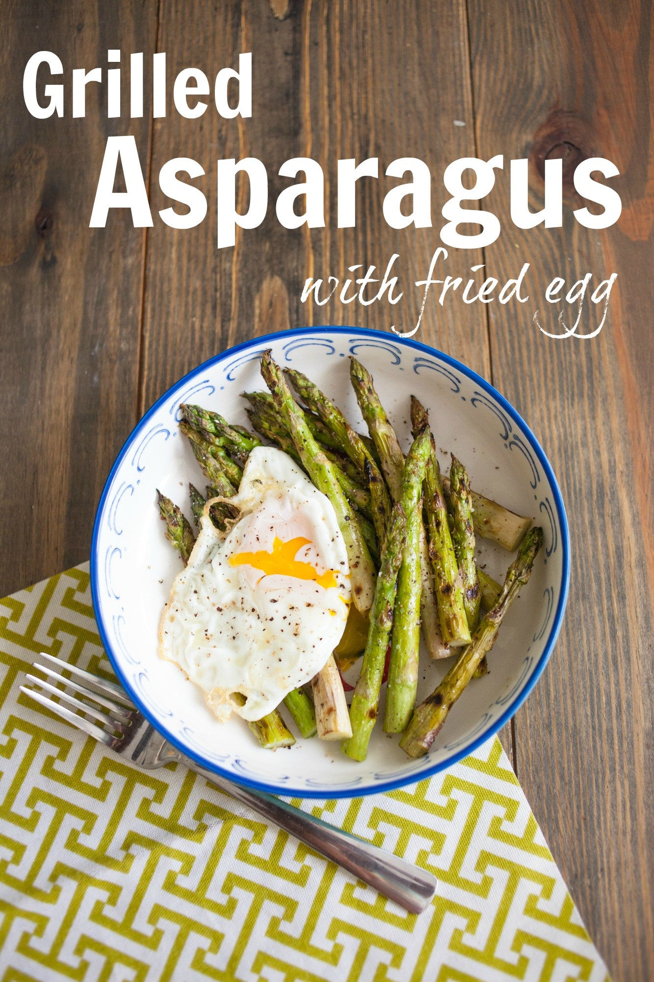 Grilled Asparagus with Fried Egg Salad