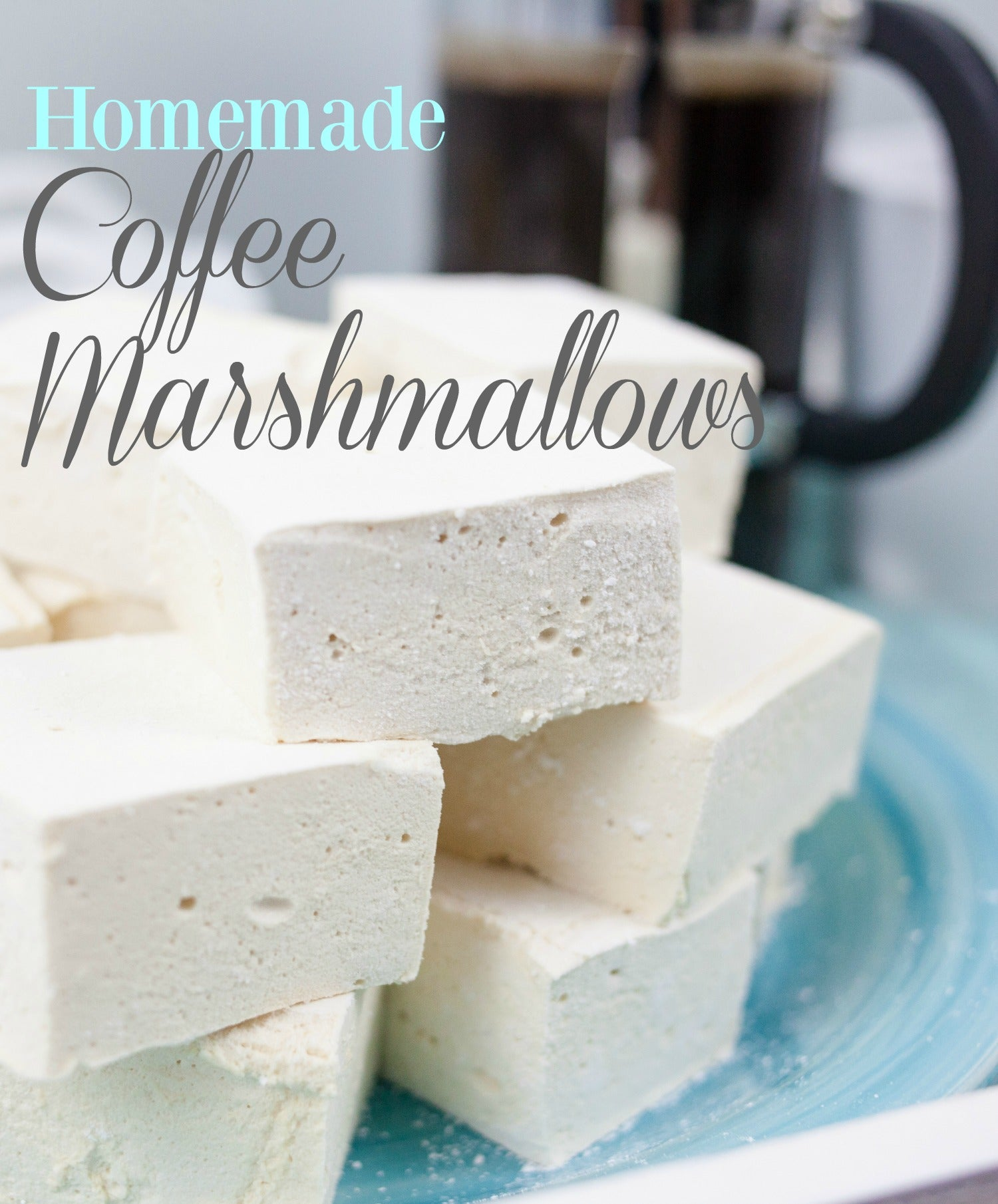 DIY Homemade Coffee Marshmallow Squares