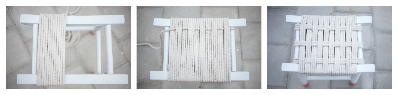 How to weave a seat with clothesline