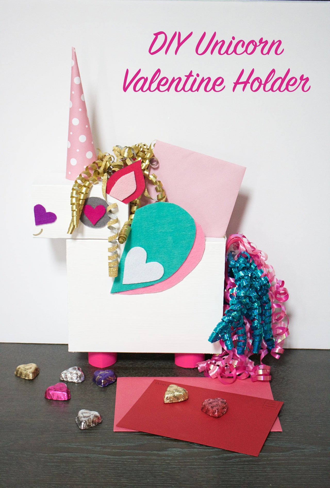 DIY Unicorn Valentine Holder