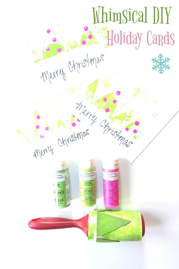 DIY Whimsical Holiday Cards