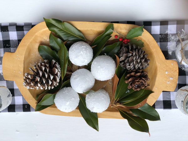 Textured Snowball Centerpiece
