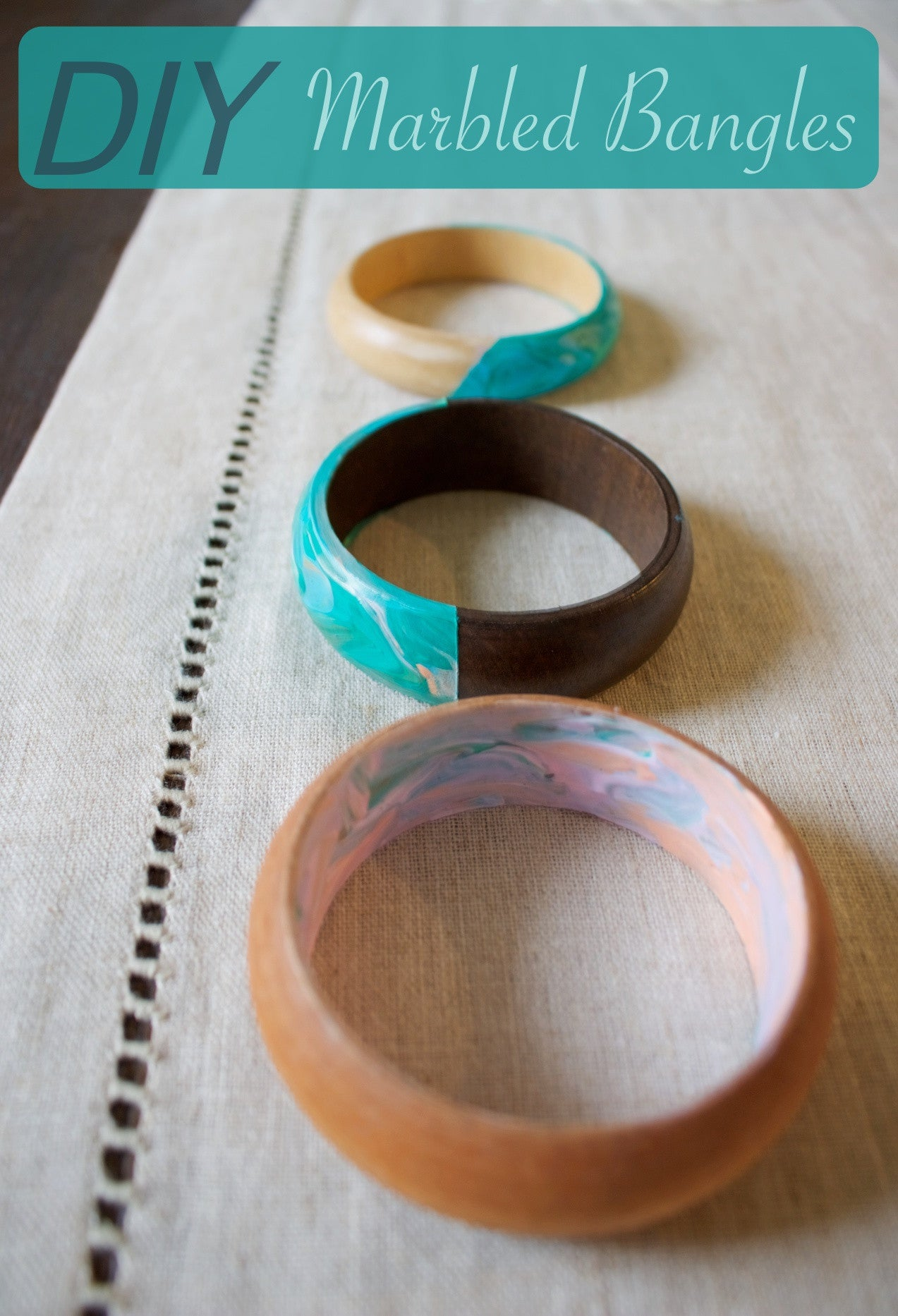 DIY Marbled Bangles