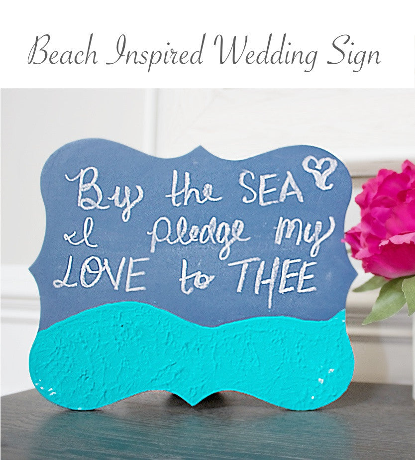 Beach Inspired Wedding Sign