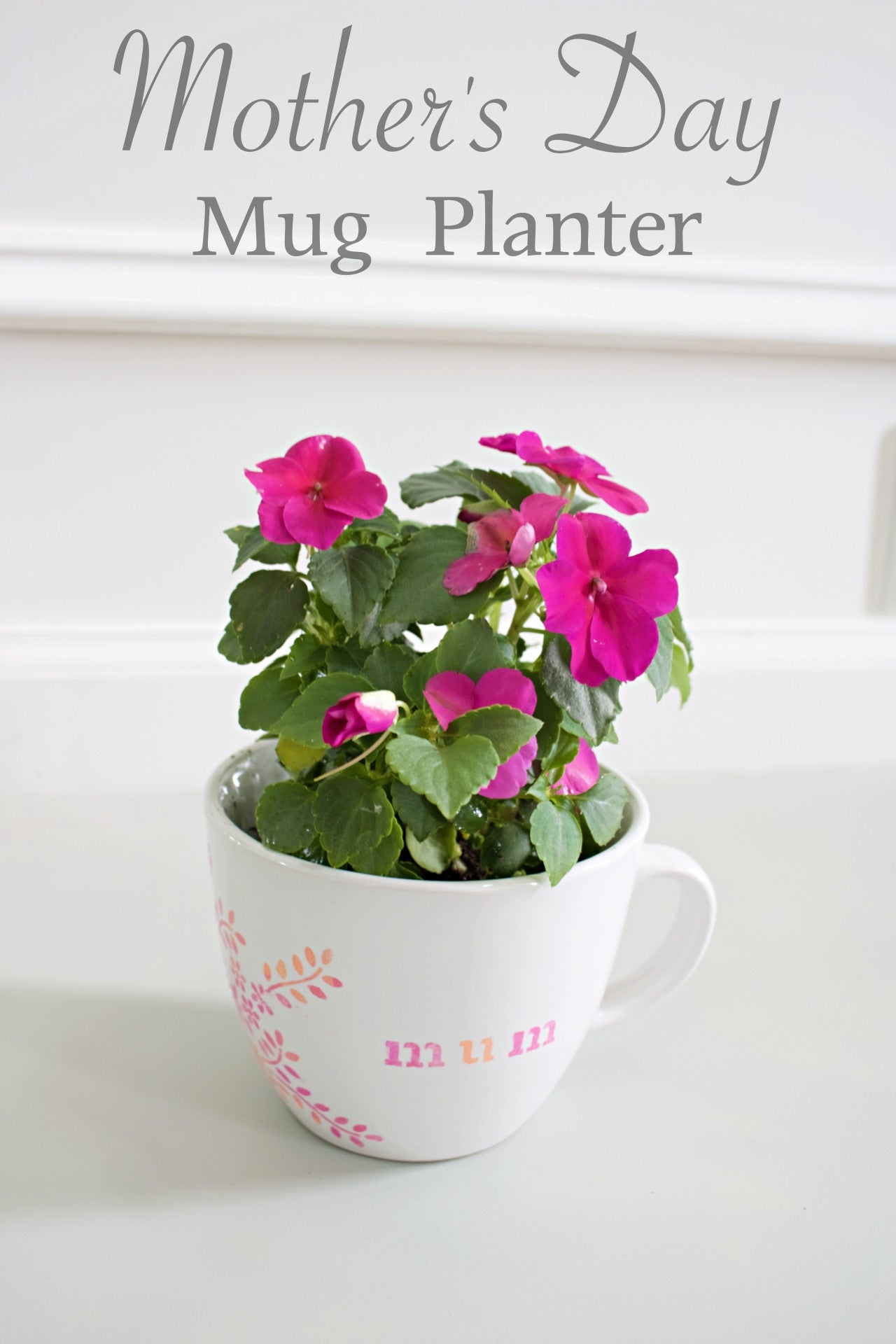 Mother's Day Mug Planter