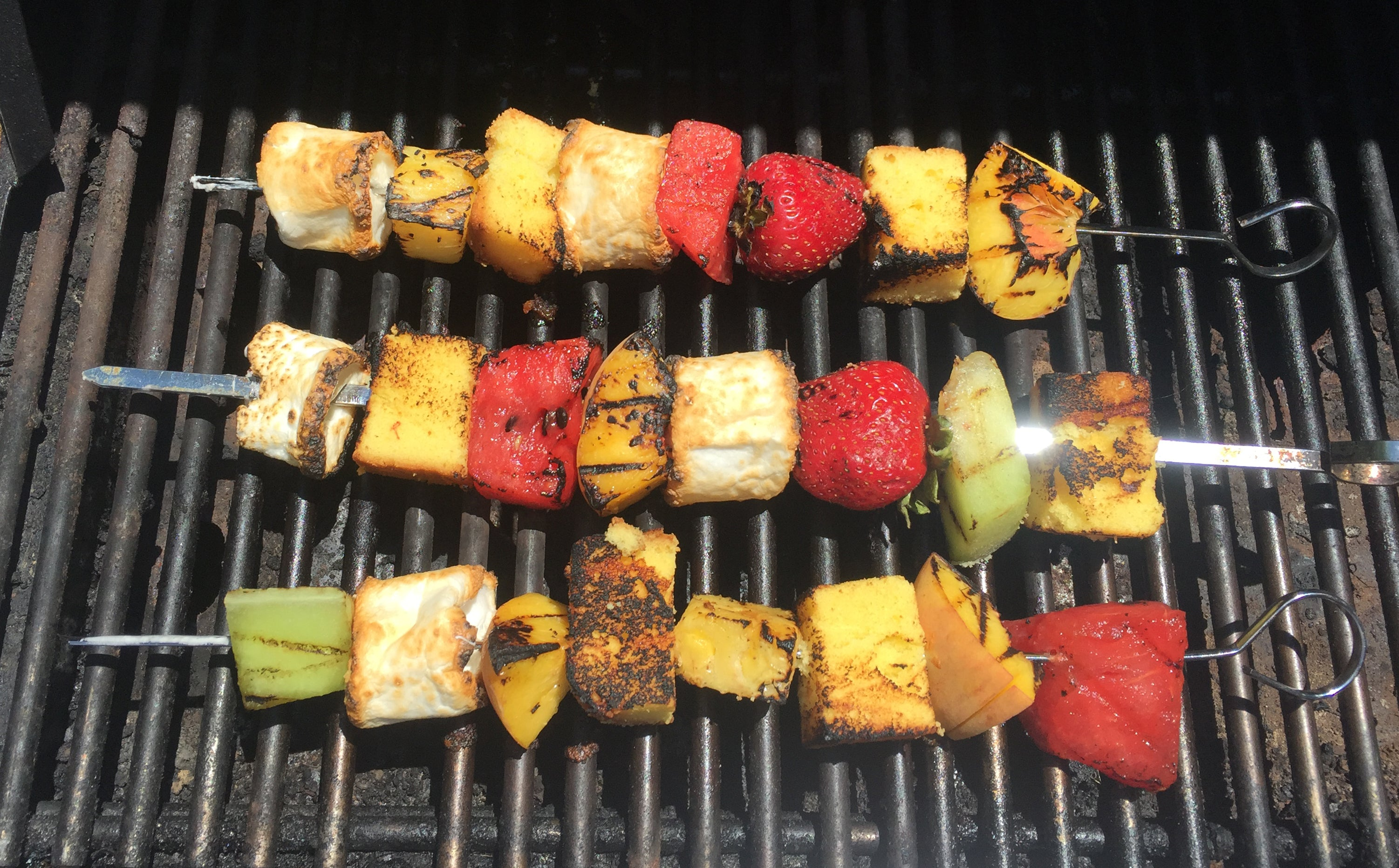 Grilled Fruit Kababs