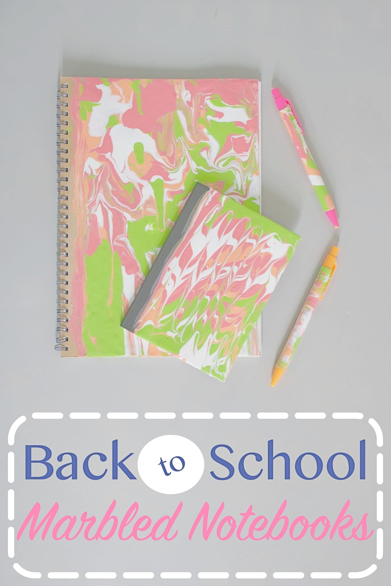 Back to School Marbled Notebooks